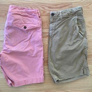 American Eagle Khaki Shorts Bundle